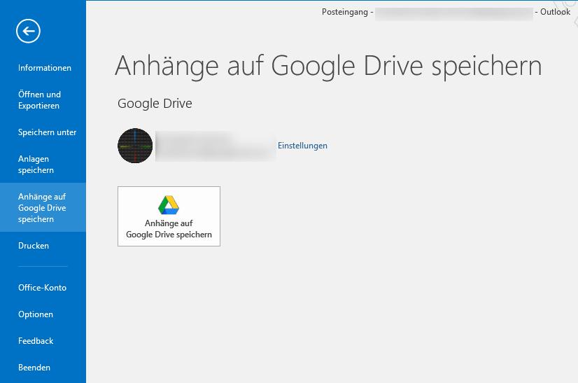 Das Google Drive Plugin wurde für Outlook angepasst