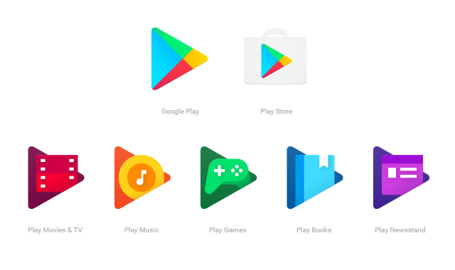 neue Google Play Icons
