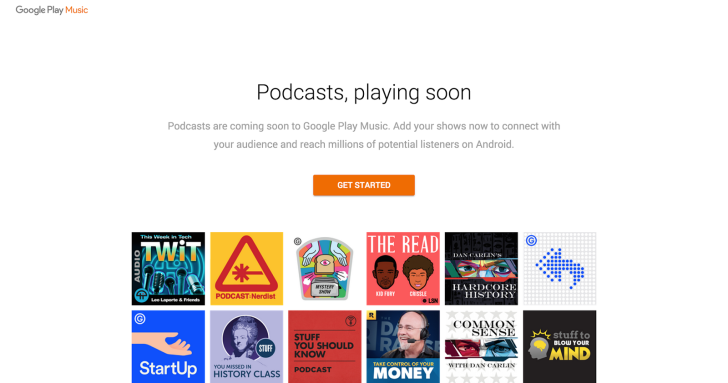 Podcasts in Google Play