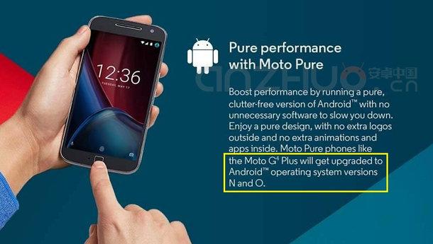 Android O - anzhuo meint Lenovo Moto G4 Werbung zu kennen