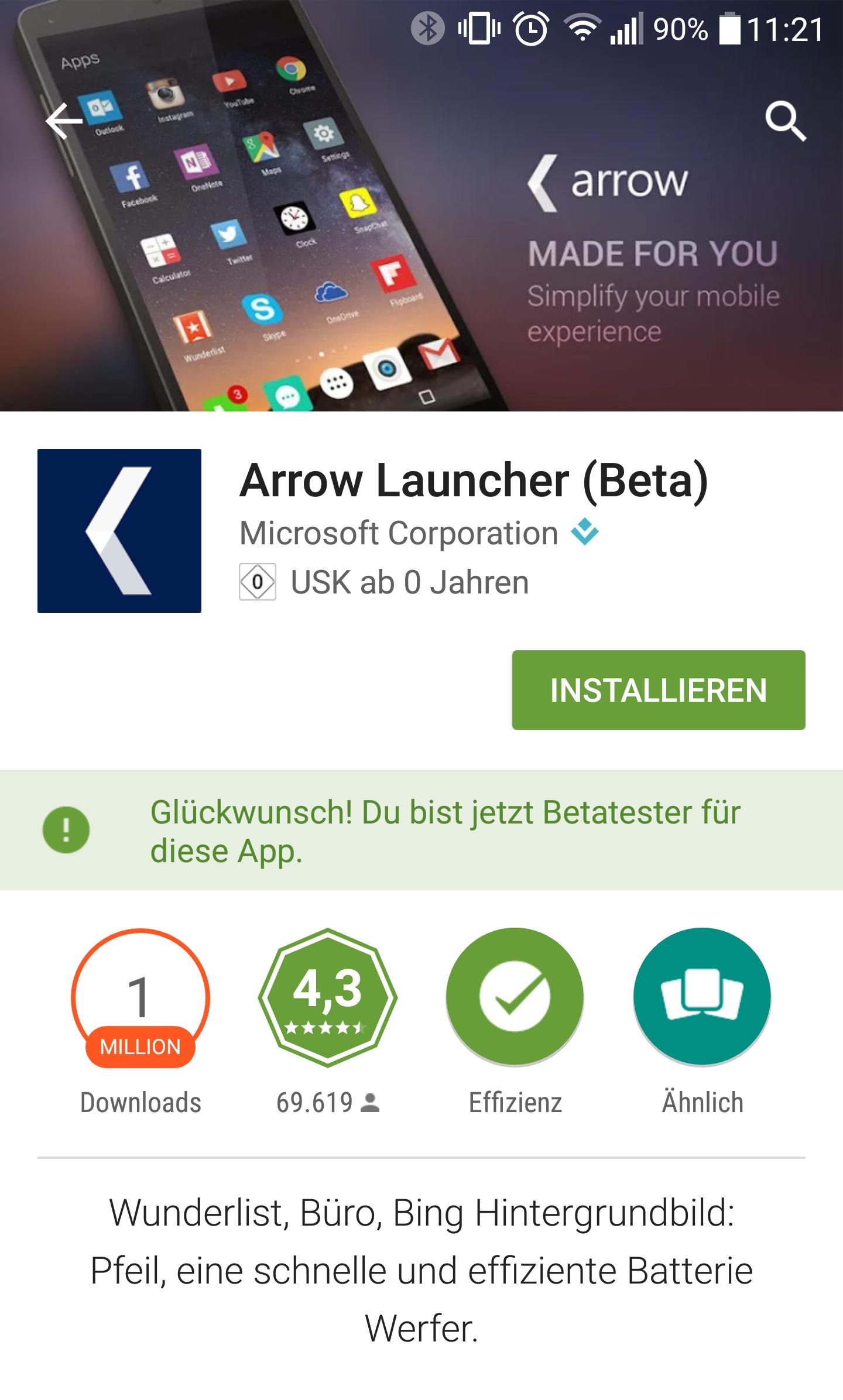 Google Play Store mit Beta-Verwaltung
