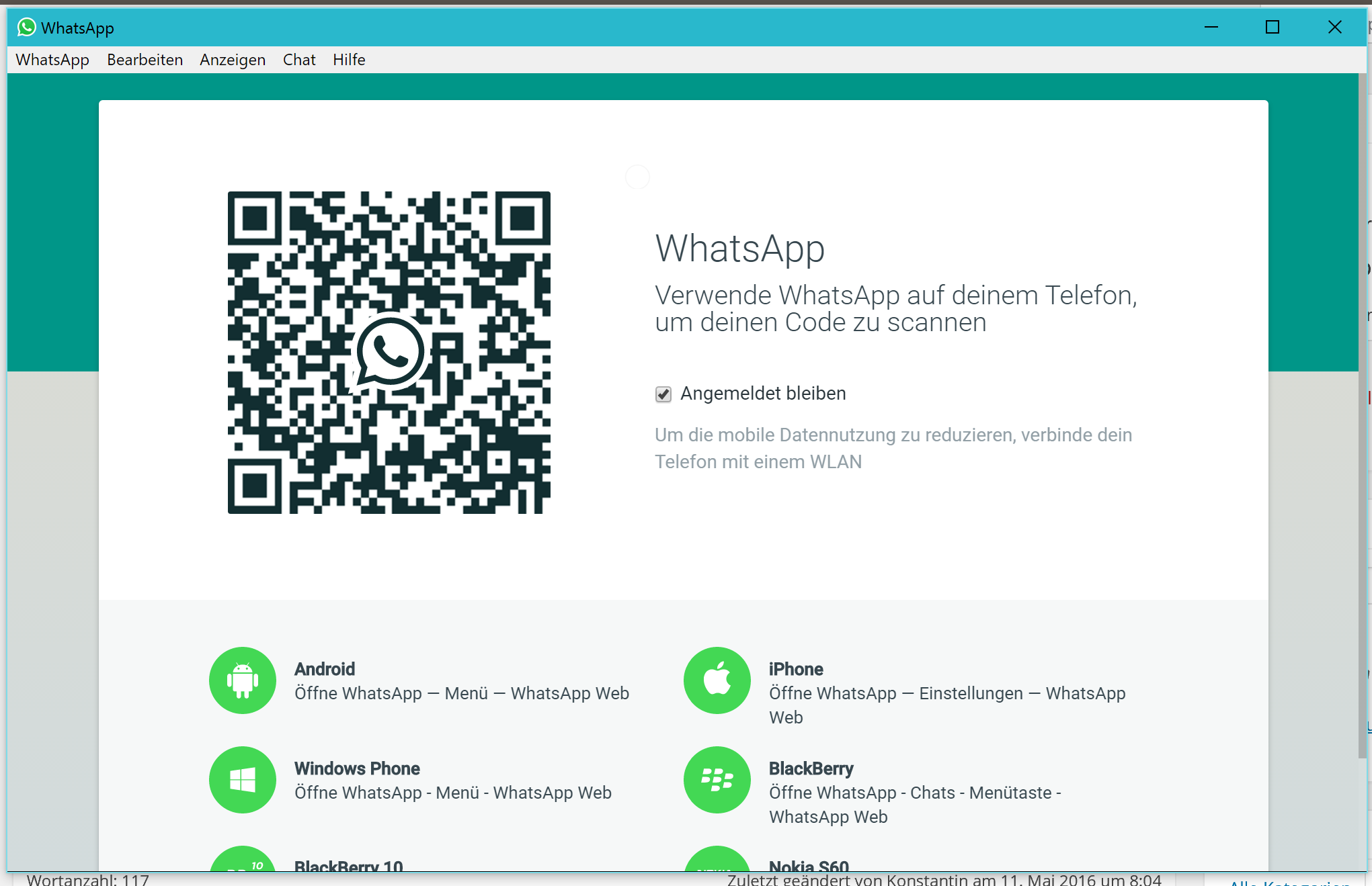 Whatsapp Desktop Client