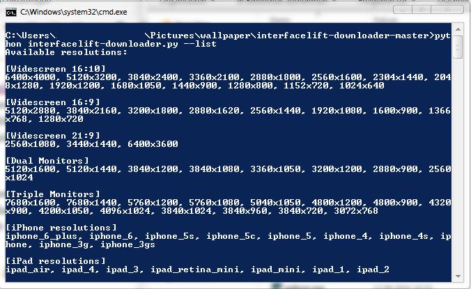 Interfacelift Downloader