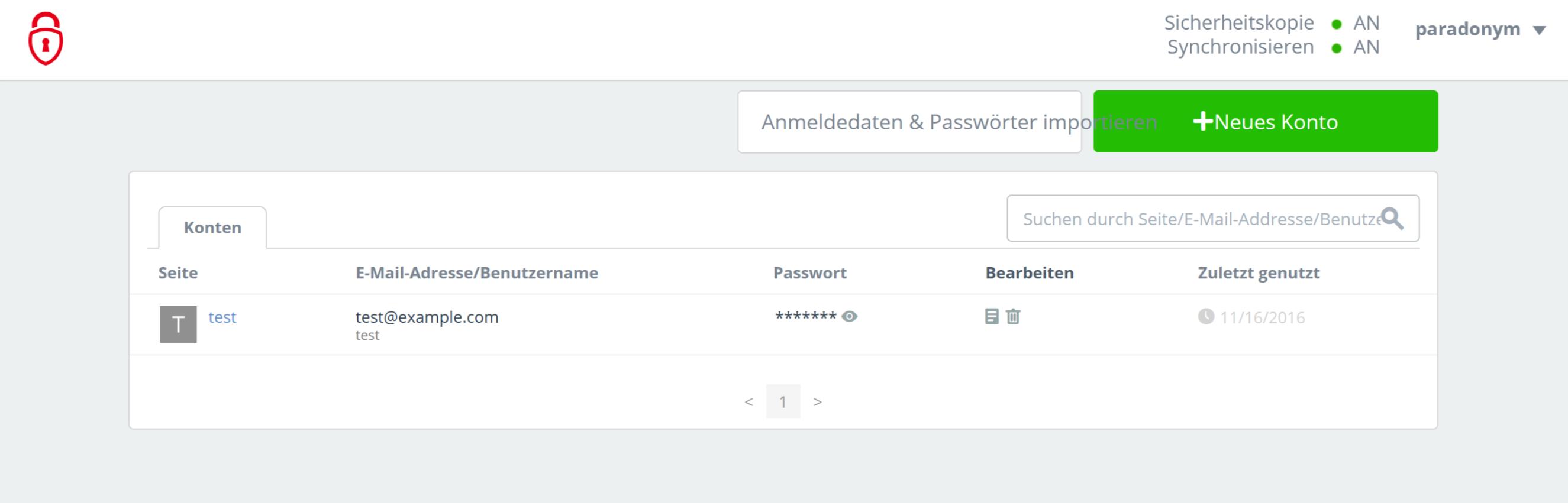 Avira Passwortmanager